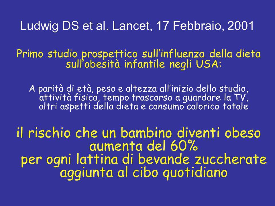 Ludwig DS et al. Lancet, 17 Febbraio, 2001