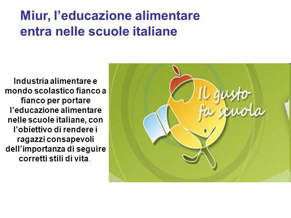 Miur, l'educazione alimentare entra nelle scuole italiane