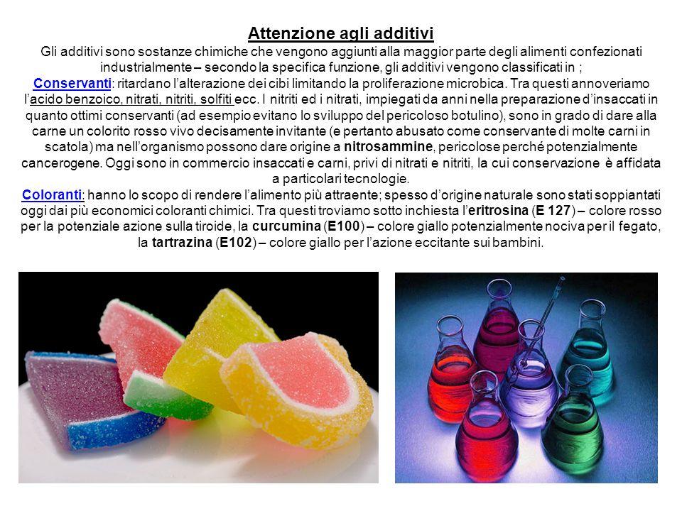 Attenzione agli additivi