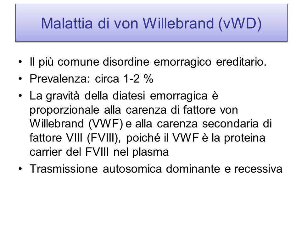 Malattia di von Willebrand (vWD)