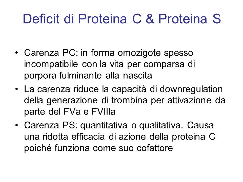 Deficit di Proteina C & Proteina S