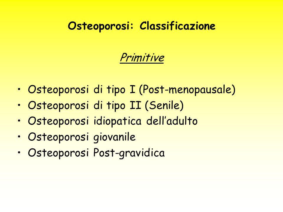 Osteoporosi: Classificazione