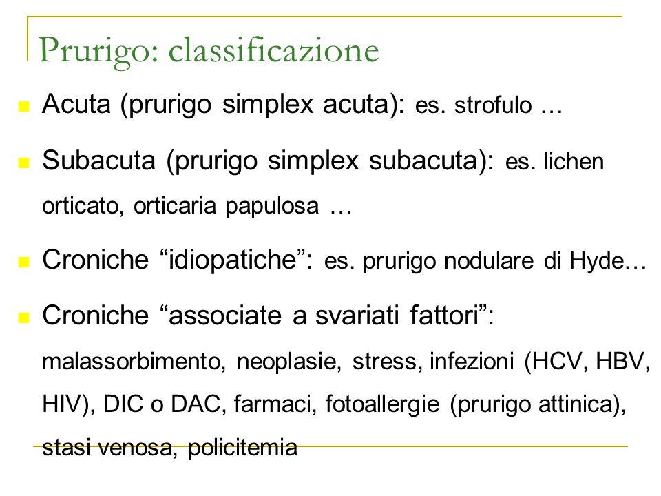 Prurigo: classificazione
