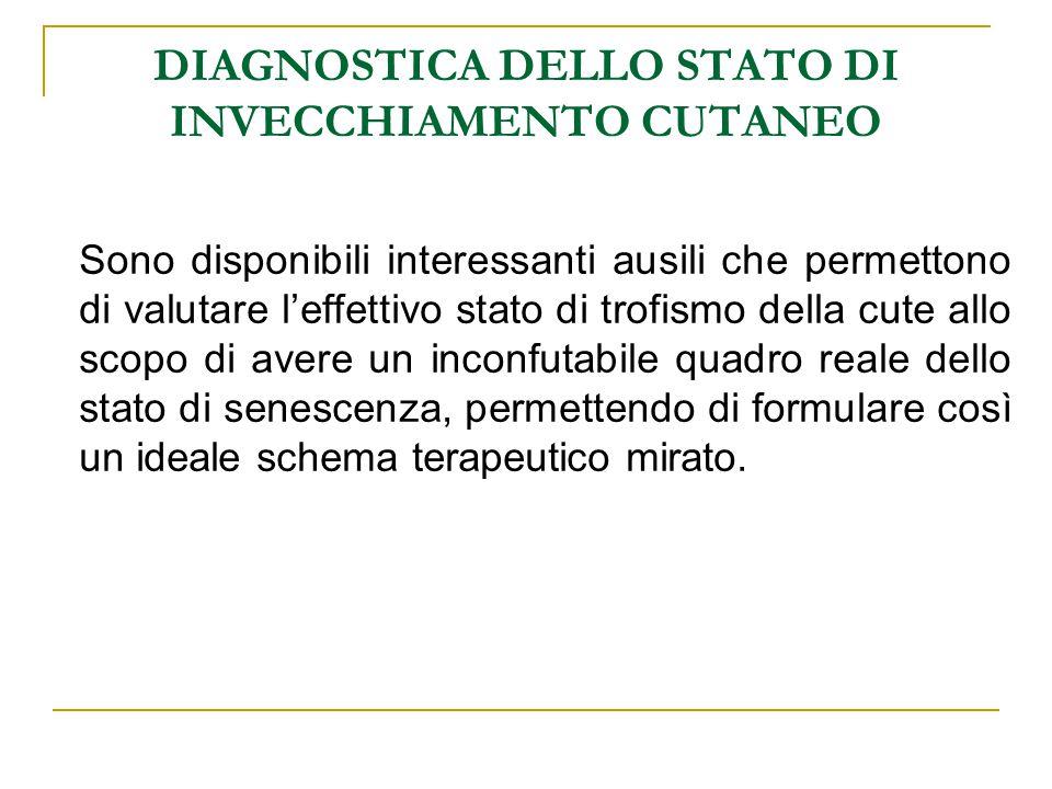 DIAGNOSTICA DELLO STATO DI INVECCHIAMENTO CUTANEO