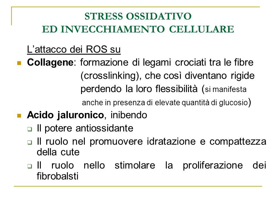 STRESS OSSIDATIVO ED INVECCHIAMENTO CELLULARE