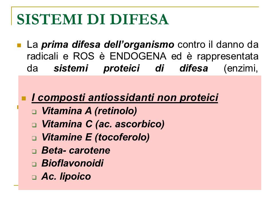SISTEMI DI DIFESA I composti antiossidanti non proteici