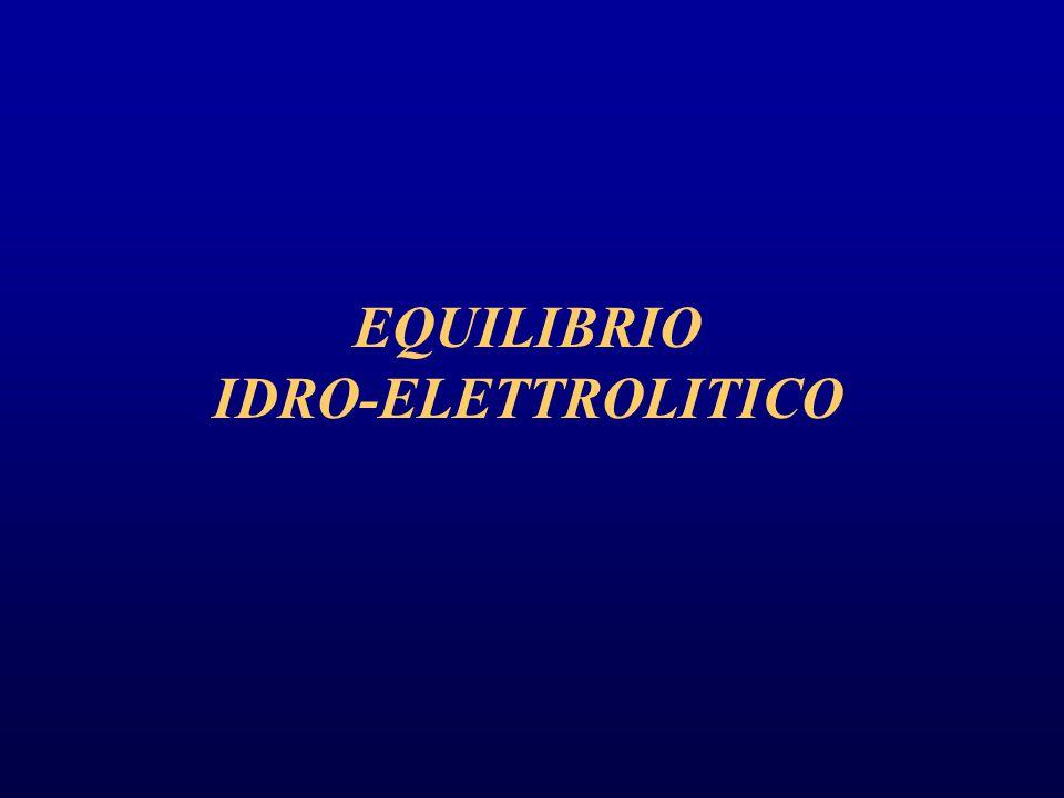 EQUILIBRIO IDRO-ELETTROLITICO
