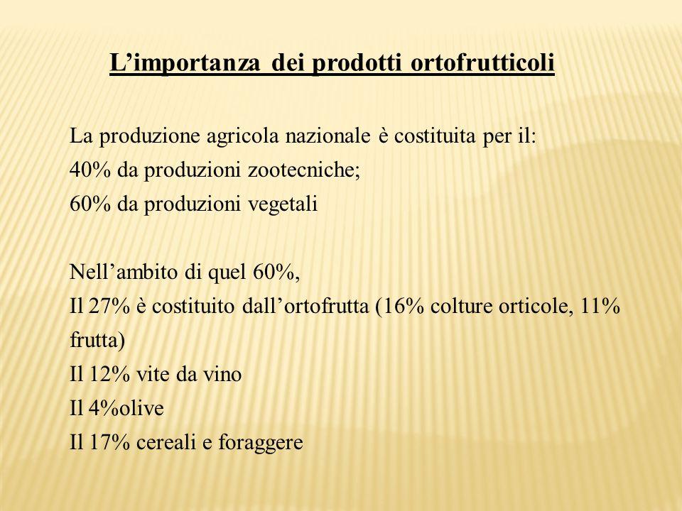 L'importanza dei prodotti ortofrutticoli