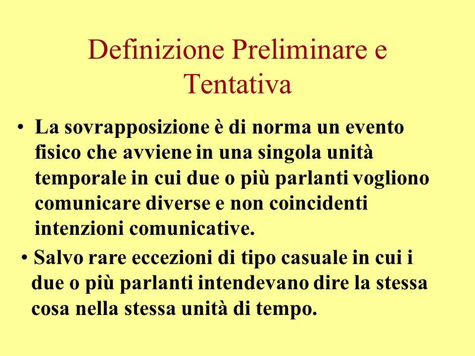 Definizione Preliminare e Tentativa