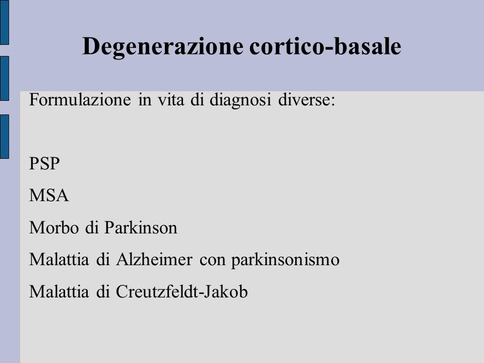 Degenerazione cortico-basale