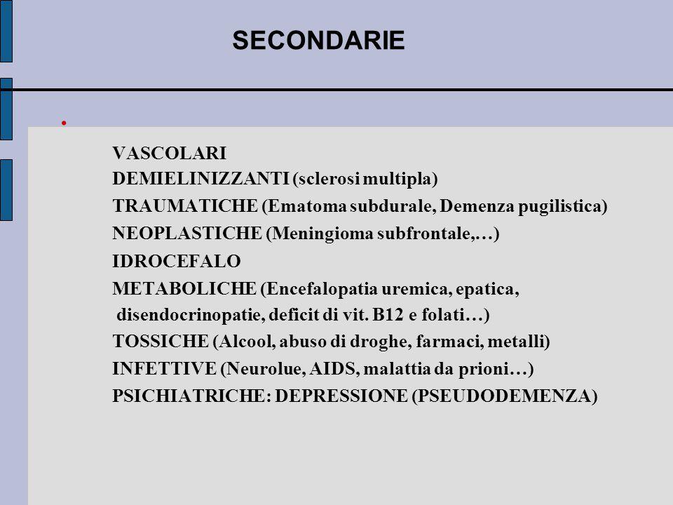 SECONDARIE VASCOLARI DEMIELINIZZANTI (sclerosi multipla)