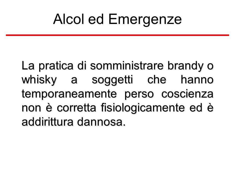 Alcol ed Emergenze