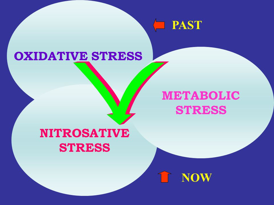 OXIDATIVE STRESS PAST METABOLIC STRESS NITROSATIVE STRESS NOW
