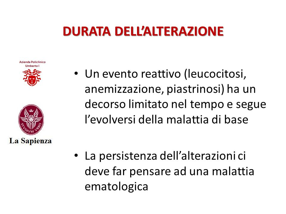DURATA DELL'ALTERAZIONE