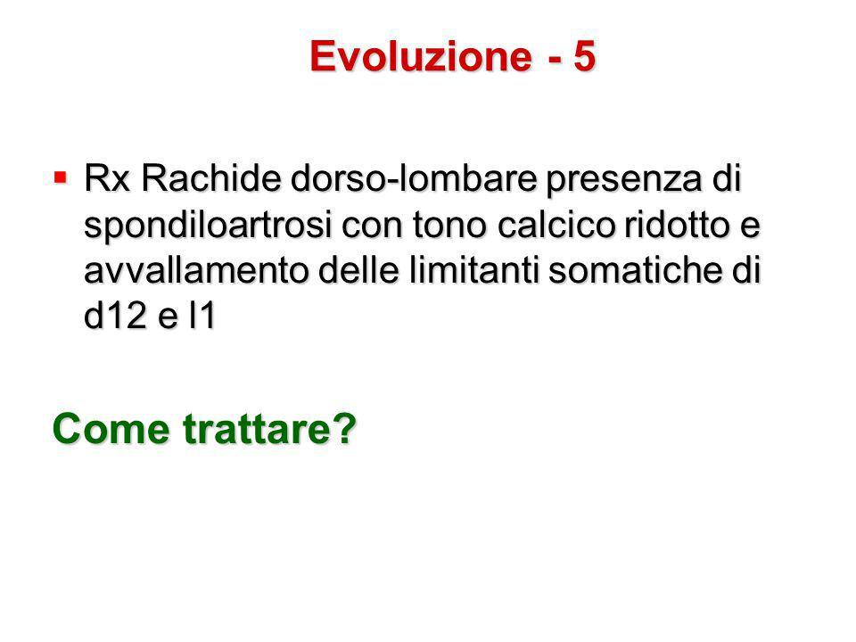 Evoluzione - 5 Come trattare