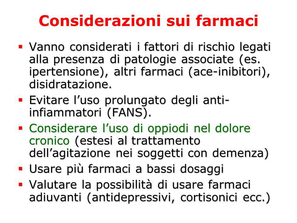 Considerazioni sui farmaci