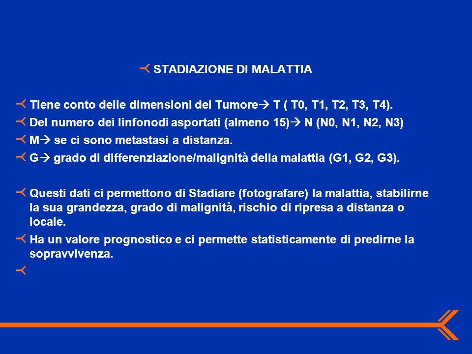STADIAZIONE DI MALATTIA
