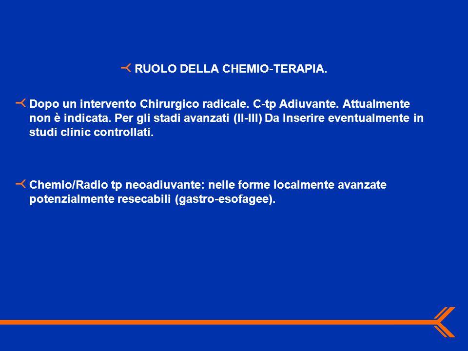 RUOLO DELLA CHEMIO-TERAPIA.