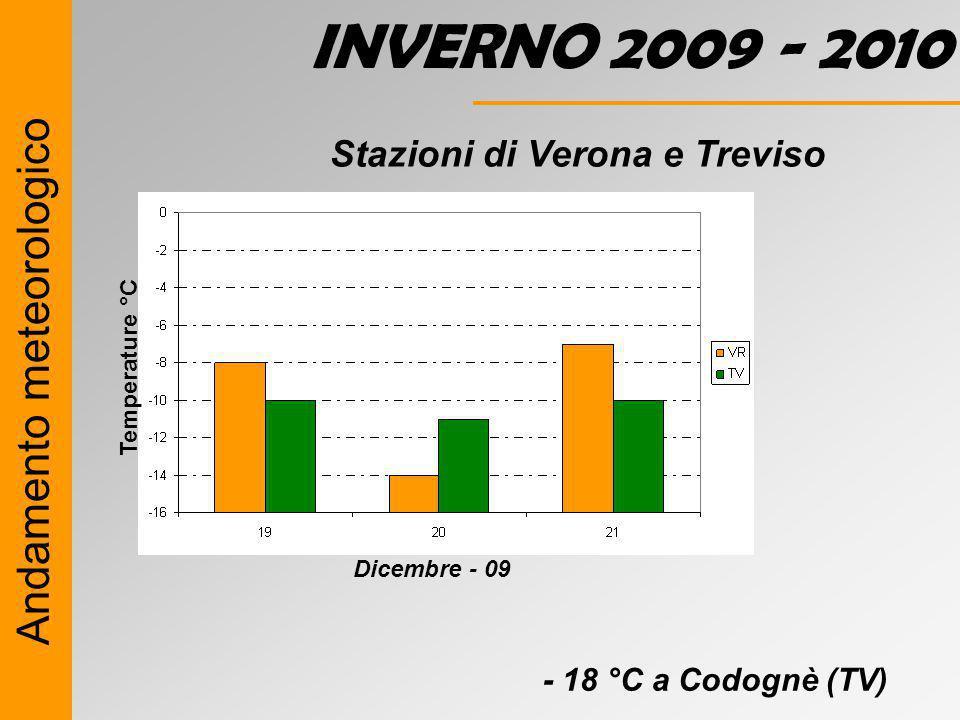 INVERNO 2009 - 2010 Andamento meteorologico