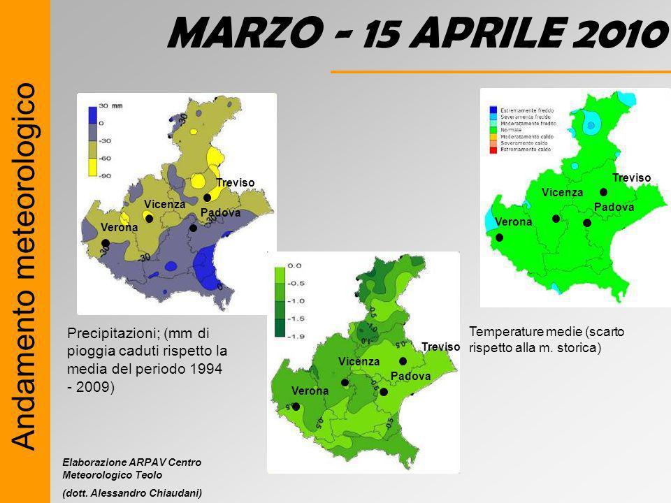 MARZO - 15 APRILE 2010 Andamento meteorologico
