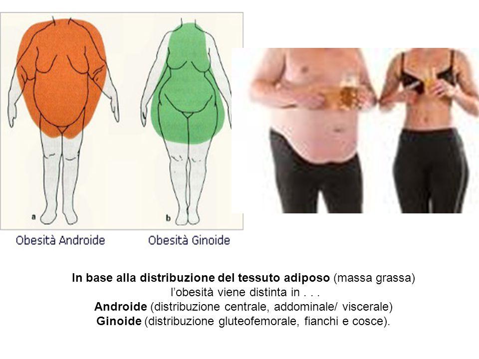 In base alla distribuzione del tessuto adiposo (massa grassa)