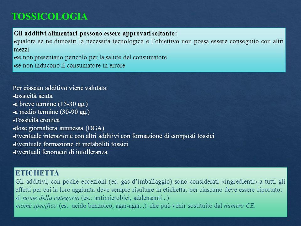 TOSSICOLOGIA ETICHETTA