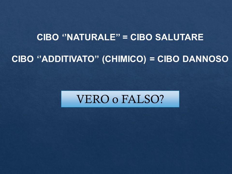 VERO o FALSO CIBO ''NATURALE'' = CIBO SALUTARE