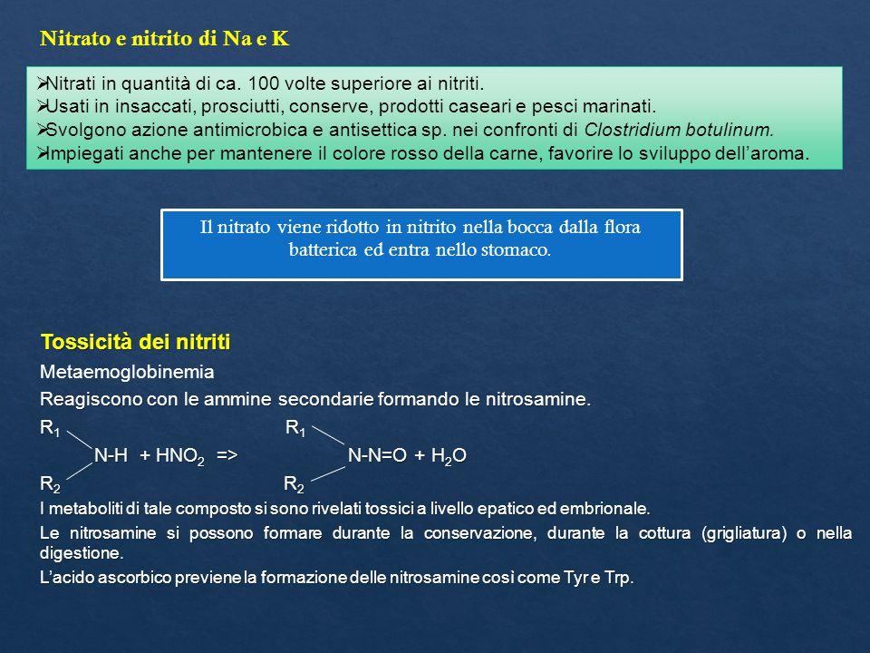 Nitrato e nitrito di Na e K