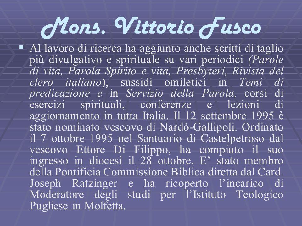 Mons. Vittorio Fusco
