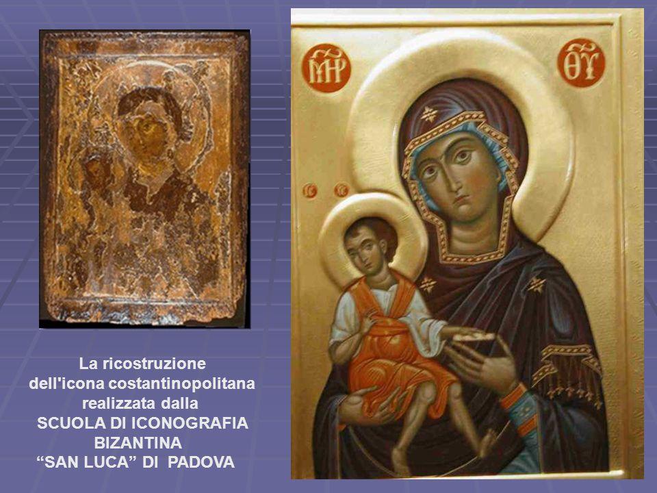 La ricostruzione dell icona costantinopolitana realizzata dalla