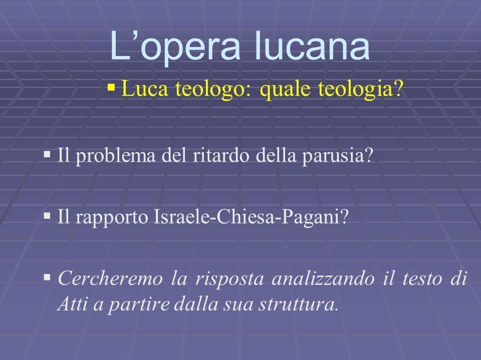 Luca teologo: quale teologia