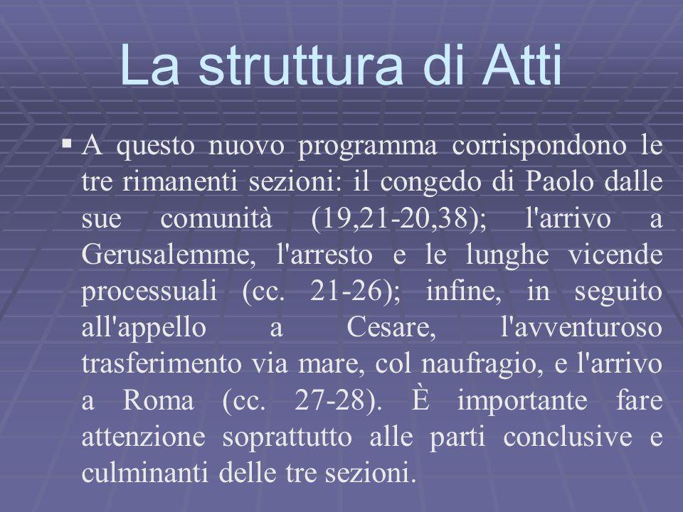 La struttura di Atti