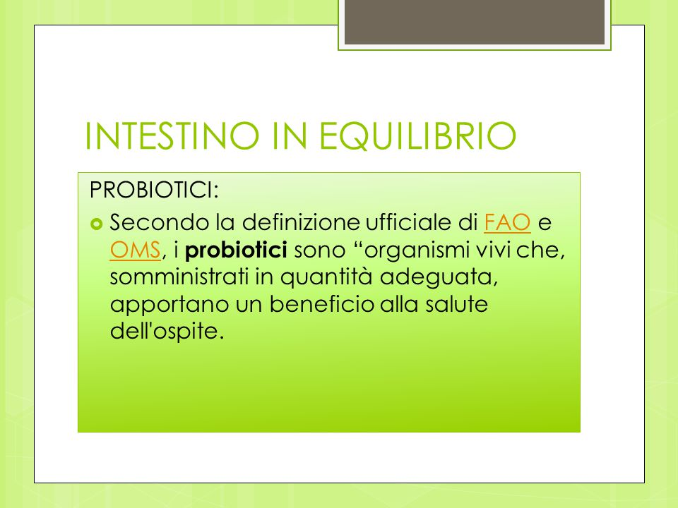 INTESTINO IN EQUILIBRIO