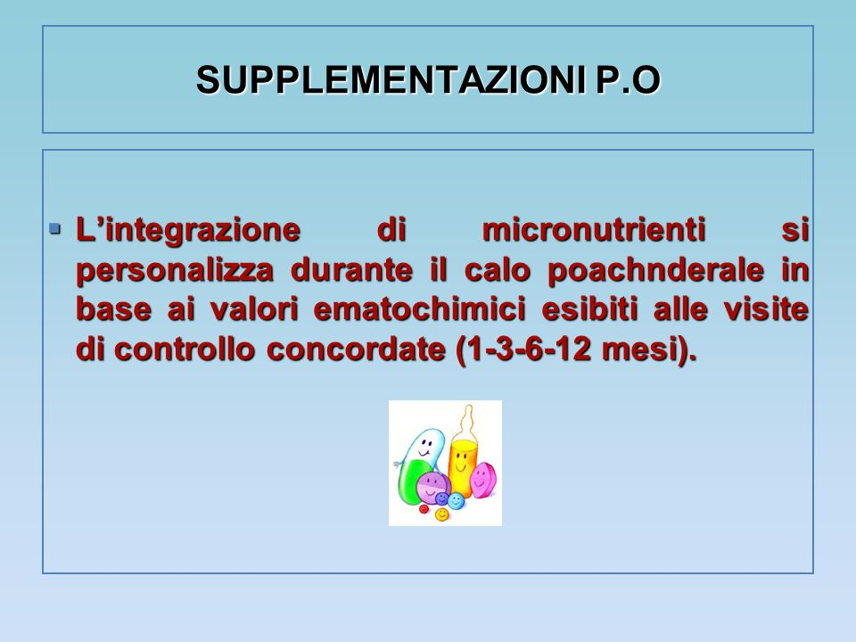 SUPPLEMENTAZIONI P.O