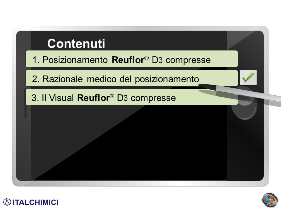 Contenuti 1. Background 1. Posizionamento Reuflor® D3 compresse
