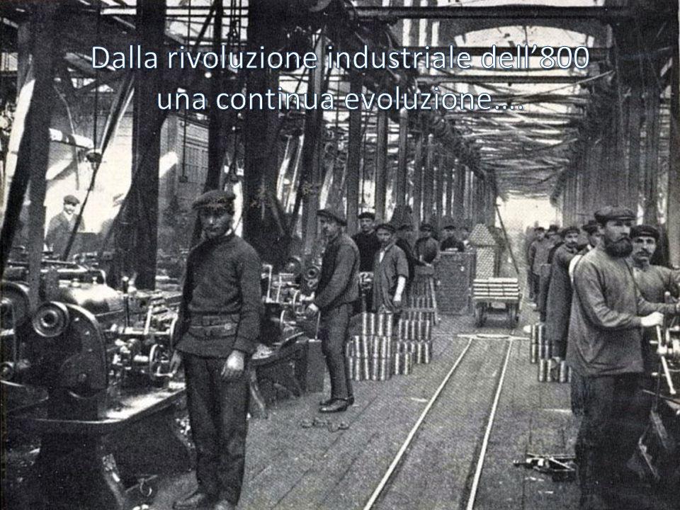Dalla rivoluzione industriale dell'800 una continua evoluzione….