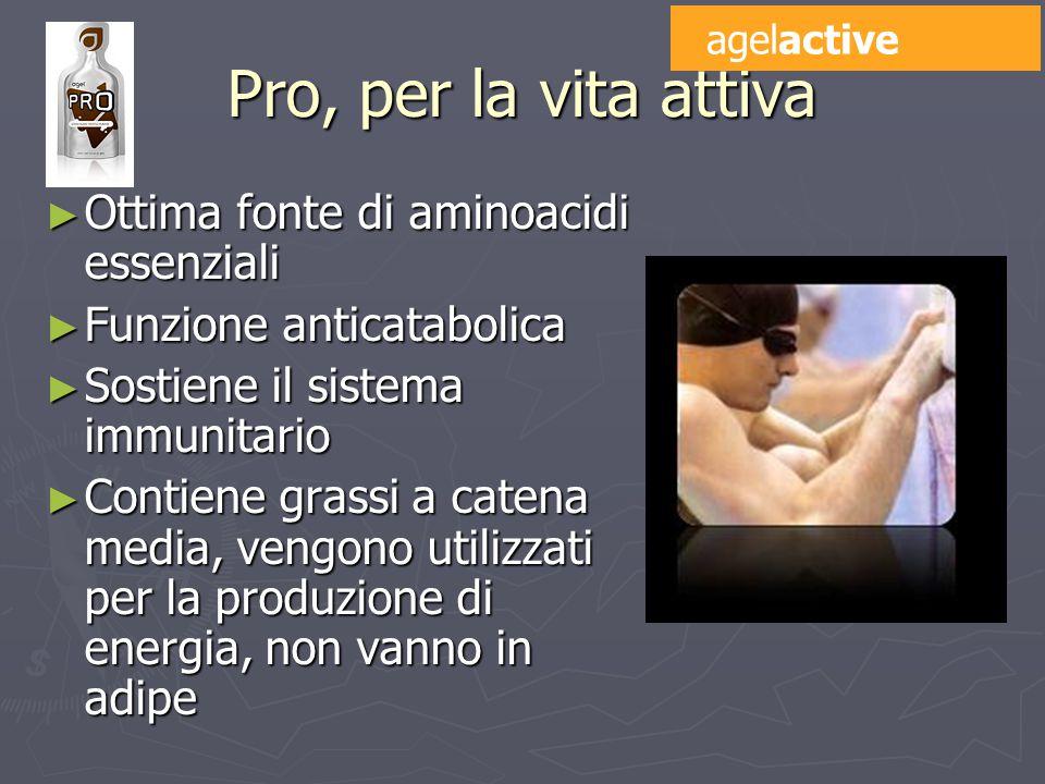 Pro, per la vita attiva Ottima fonte di aminoacidi essenziali