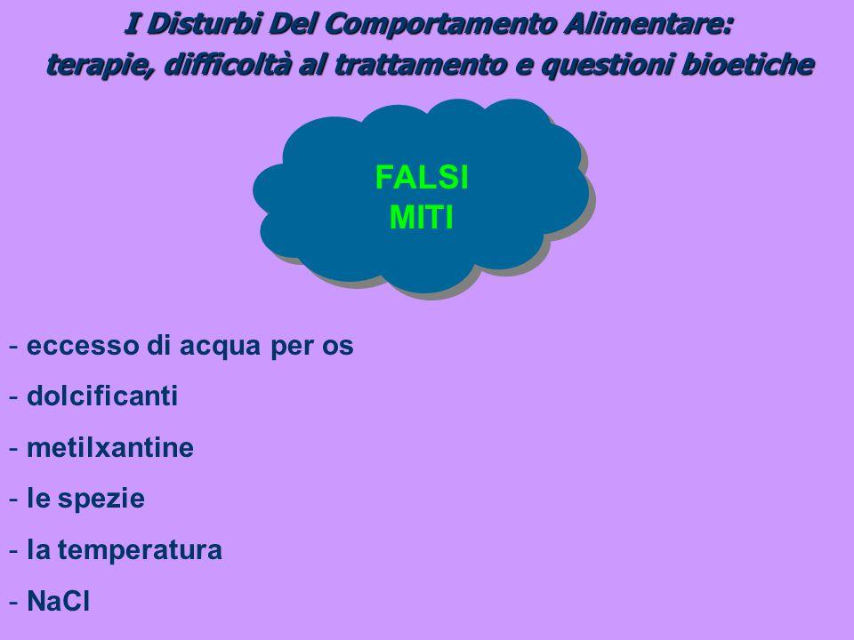 FALSI MITI I Disturbi Del Comportamento Alimentare: