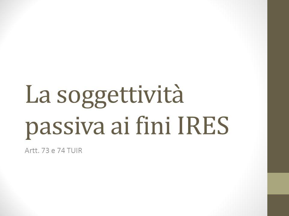 La soggettività passiva ai fini IRES