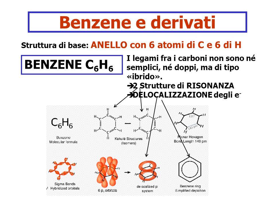 Benzene e derivati BENZENE C6H6