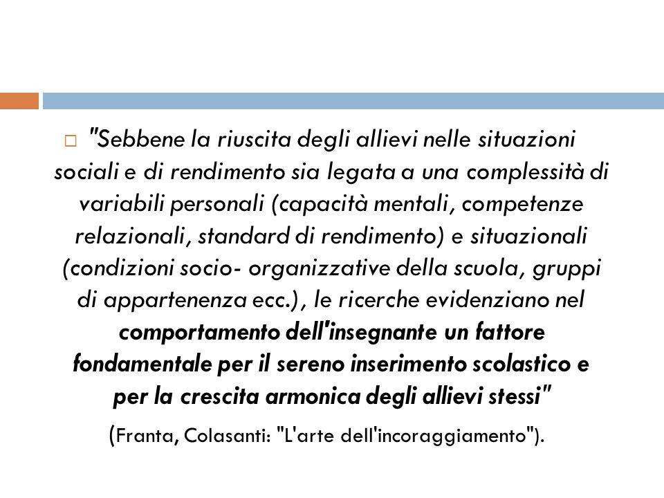 (Franta, Colasanti: L arte dell incoraggiamento ).
