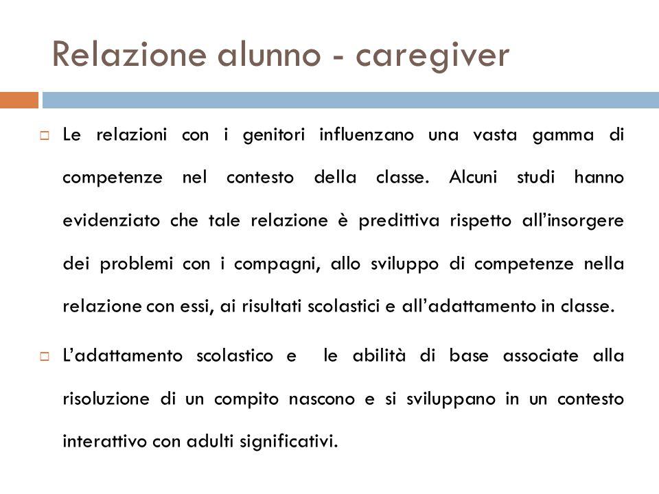 Relazione alunno - caregiver