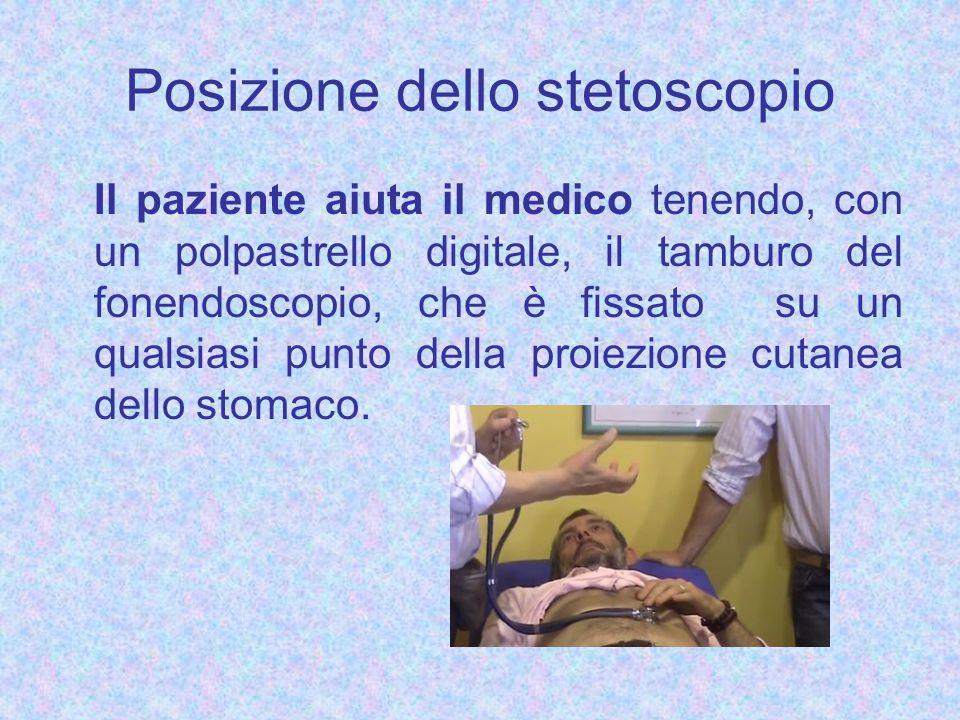 Posizione dello stetoscopio