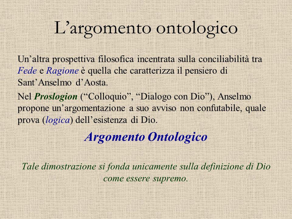 L'argomento ontologico