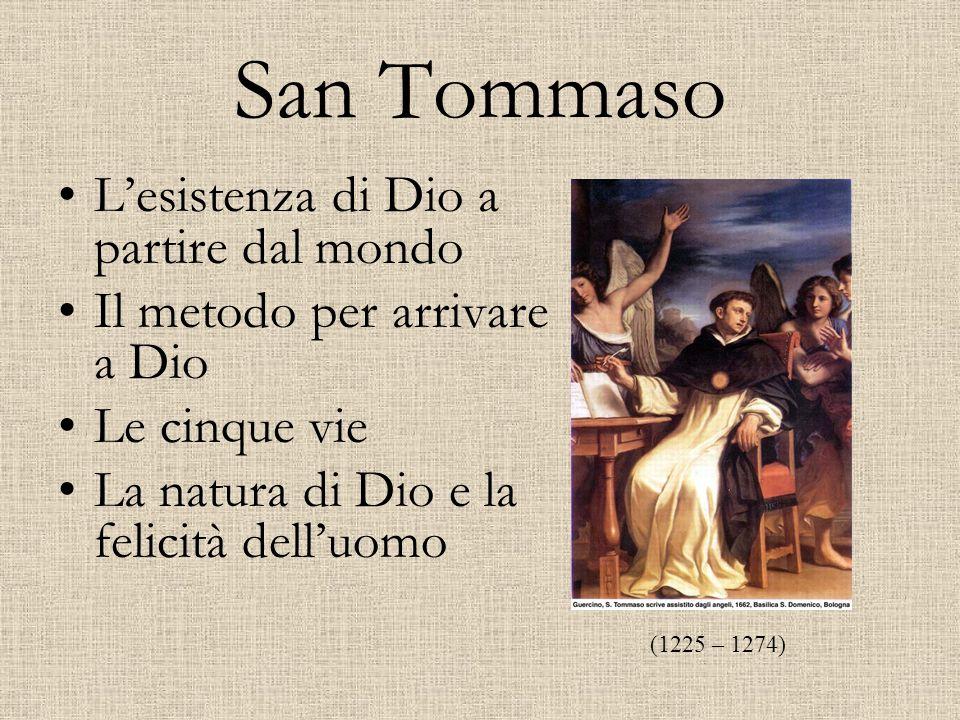 San Tommaso L'esistenza di Dio a partire dal mondo
