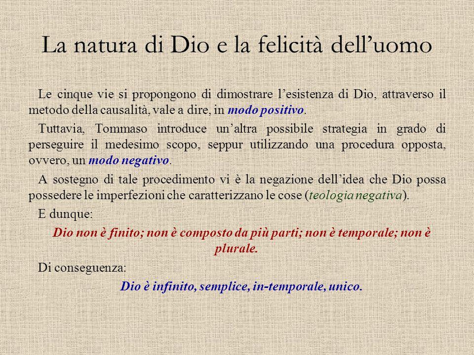 La natura di Dio e la felicità dell'uomo