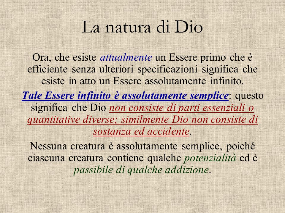La natura di Dio