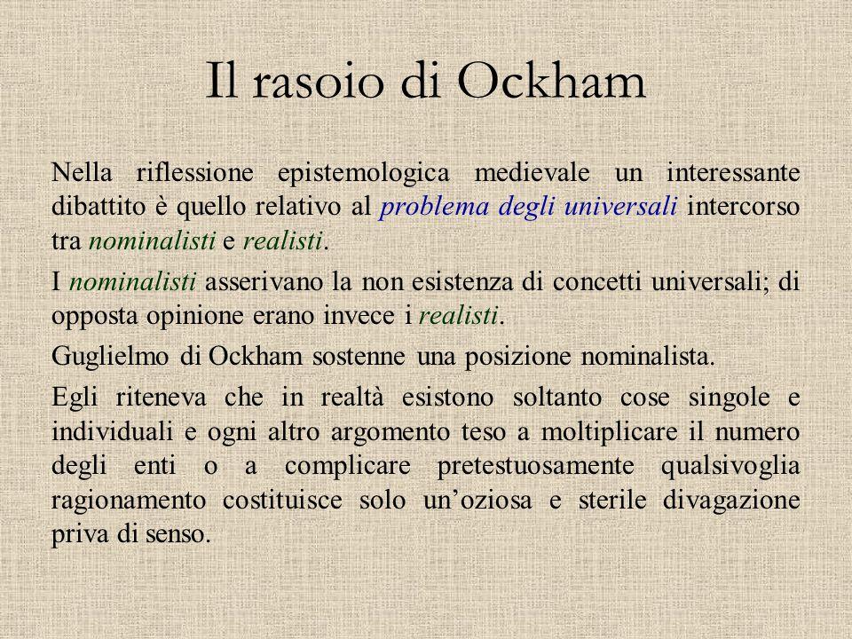 Il rasoio di Ockham