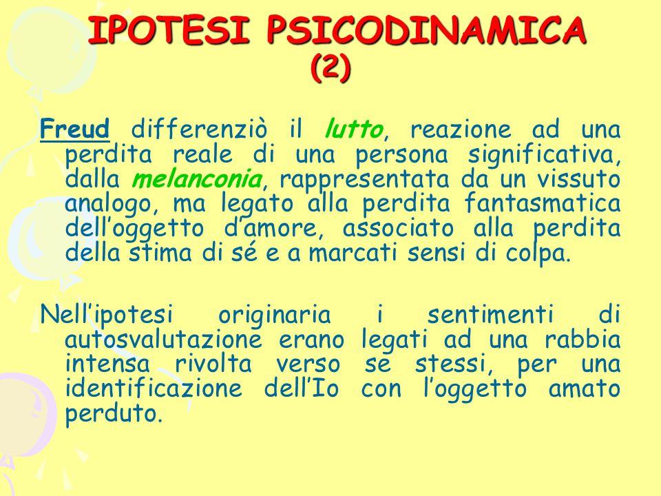 IPOTESI PSICODINAMICA (2)