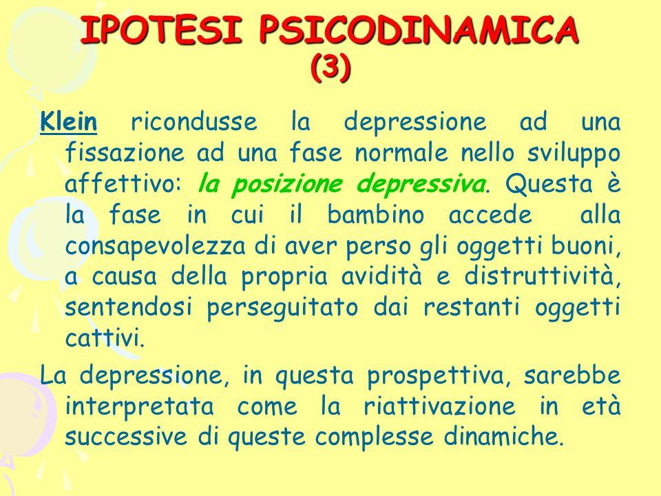 IPOTESI PSICODINAMICA (3)